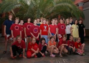 Mannschaft des TC-Harz beim Kinderpokal in Rostock